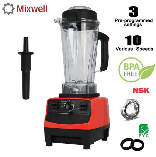 768S BPA Fress Smoothie Blender Mixer Food Professor 3 Gear High Speed Fruit Vegetable Juice Mixer Heavy Duty Ice Crusher