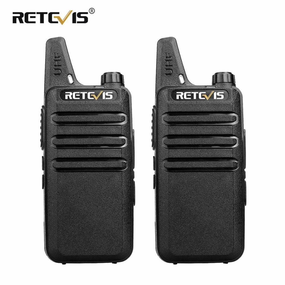 2 pcs Mini Walkie Talkie Retevis RT22 2W UHF VOX USB Charging Portable Two Way Radio Station Walkie-Talkie 2 Way Radio Woki Toki