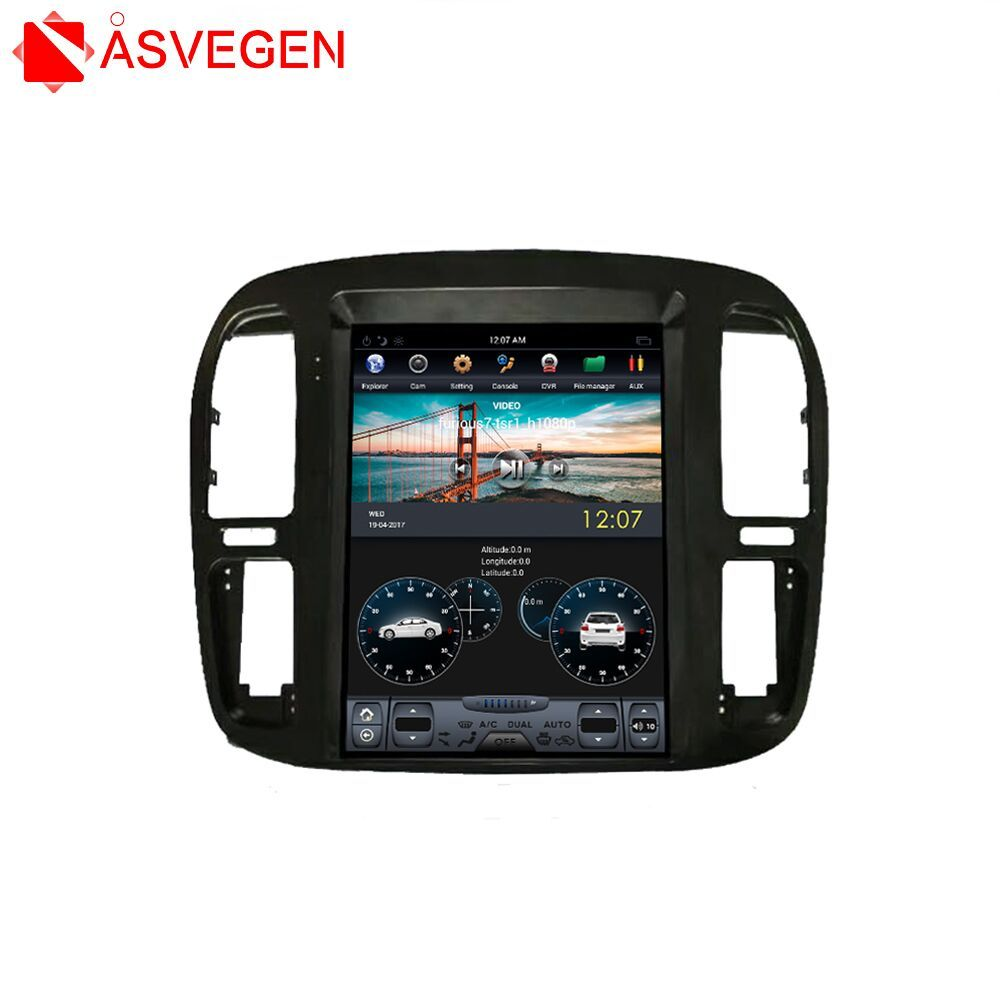 Android Auto GPS-Navigation Für TOYOTA LAND CRUISER 1999-2002 12,1 Zoll Auto Multimedia Stereo Video Player Steuergerät Player