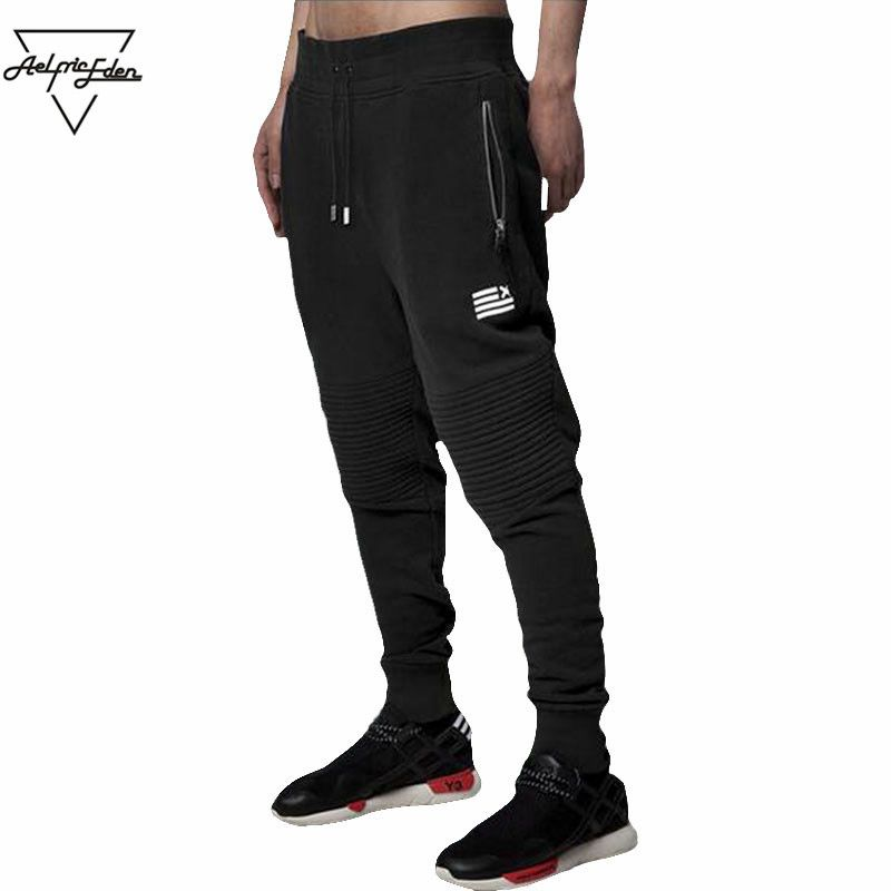 Aelfric Eden Mens Dress Pants Cotton Casual Simple Sweat Pants Zipper Pockets Feet Joggers Sweatpants Man High Street Wear PA009