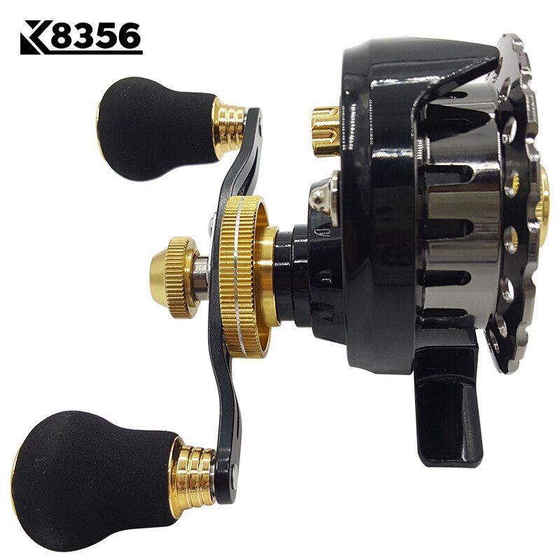 K8356 6+1BB 2.6:1 Left/Right Hand Optional Semimetal Fishing Rafts Saltwater Fly Fishing Reel Bait Casting Ice Fishing Wheel