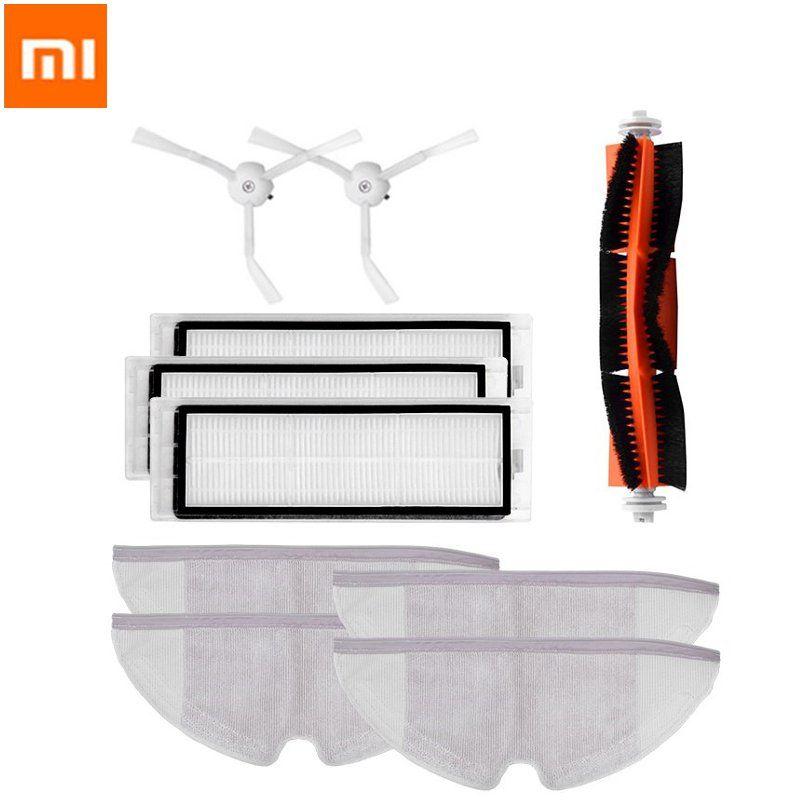 XIAOMI Mija 10Pcs Main brush Hepa Filter Side Brush Mop Cloths Kit Accessories for Robot Roborock S50 S51 S55 Roborock 2 Xiaowa