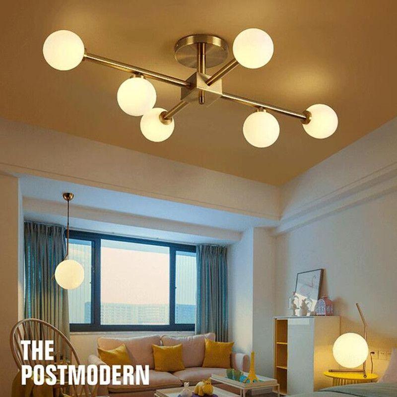 Magie Bean Nordic Licht Wohnzimmer Decke Lampe Einfache Moderne Glas Runde Ball Molekül LED Kronleuchter Beleuchtung Hängen Lampe