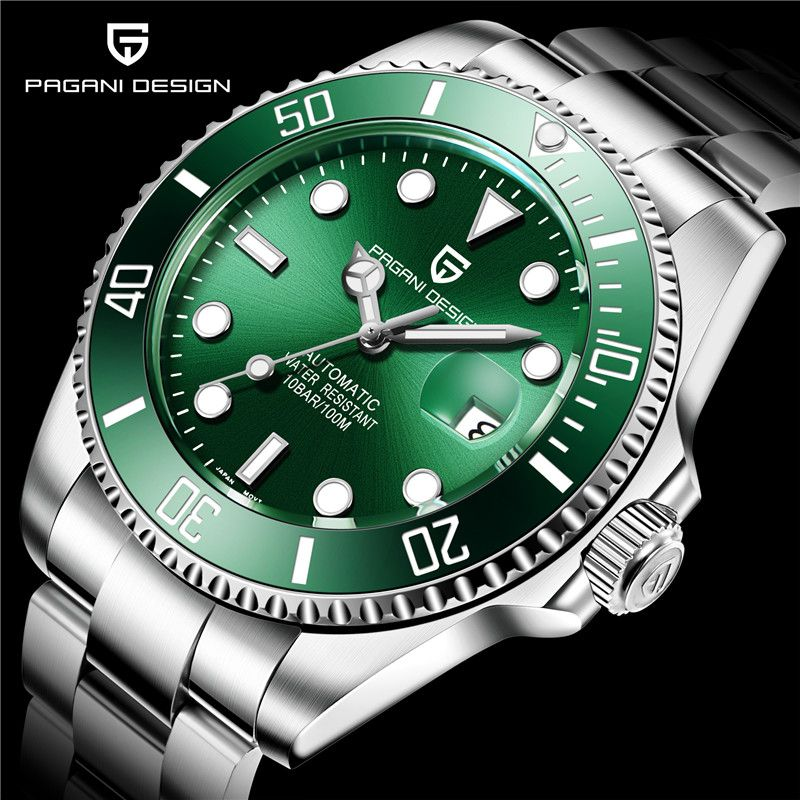 PAGANI Top Marke Neue männer Klassische Tauchen Serie Mechanische Uhren Wasserdicht Edelstahl Luxus Uhr Männer Relogio Masculin