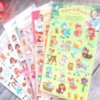 1pack/lot Kawaii Girl series Transparent sticker Decorative Stickers Stationery Stickers