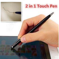 Fffas 2 в 1 Мини Универсальный Планшеты touch Стилусы рисунок пером Шариковая ручка для IPad IPhone 4 5 5S 6 7 мобильного телефона Ноутбуки экран