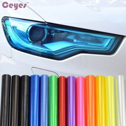 Car-styling 30 cm x 100 cm auto DIY luz trasera TINT vinilo Películas lámpara Adhesivos luz de freno coche Accesorios car styling