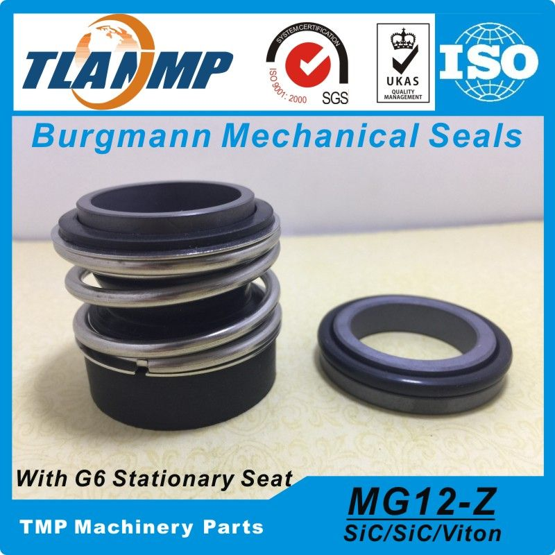 MG12/14-Z ( MG12-14 /G6)  Burgmann Mechanical Seals for Water Pumps with G6 Stationary Seat (Material:SiC/SiC/VITON)