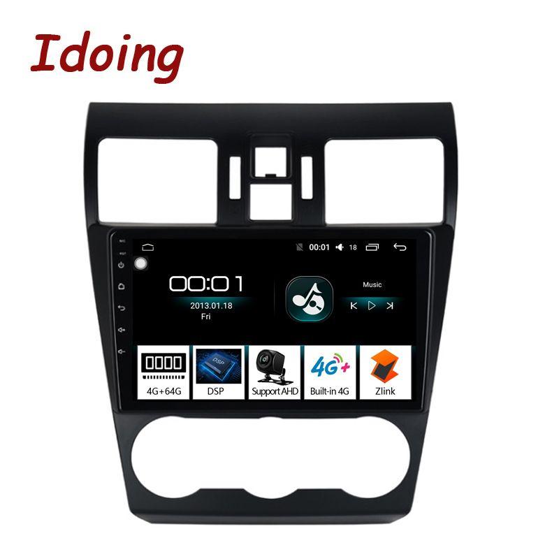 Idoing 1 Din 9 2.5D IPS DSP Auto Android 8.1 Radio GPS Multimedia-Player 4G + 64G Octa core Für Subaru WRX 2016-2018 Navigation