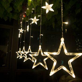 2 м LED Рождество звезды свет Крытый 220 В светодиодные Фея Праздничные огни для вечеринки/Новый год украшения Рождество огни
