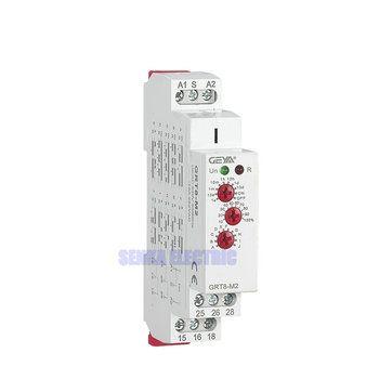 3 Boutons Multi-Fonction Rail Din Minuterie Automatique Relais AC DC 12 V 24 V 220 V DPDT Contrôle commutateur Relais Temporisé