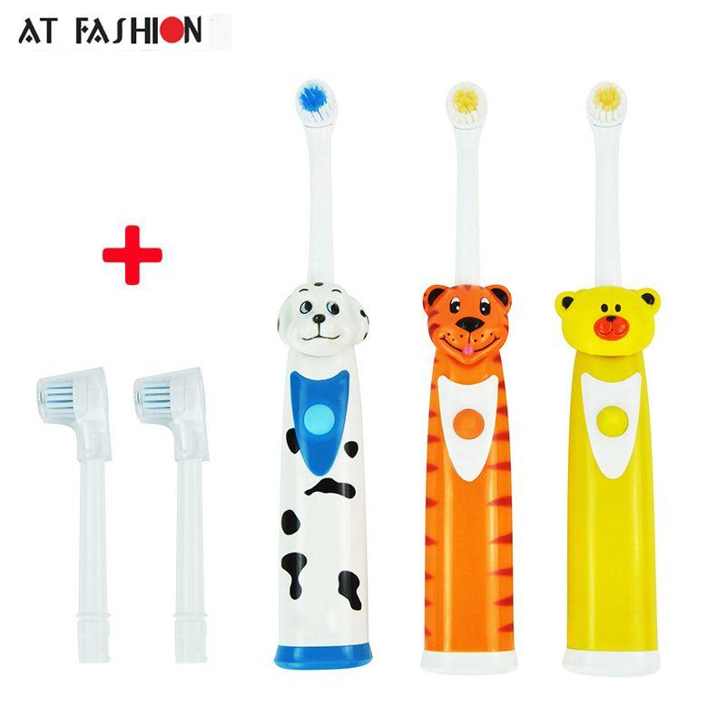 Zahnpflege Kinder Elektrische Zahnbürste Cartoon-Muster Kinder Wasserdichte Weichen Borsten Zahnbürste Professionelle Kinder Mundhygiene