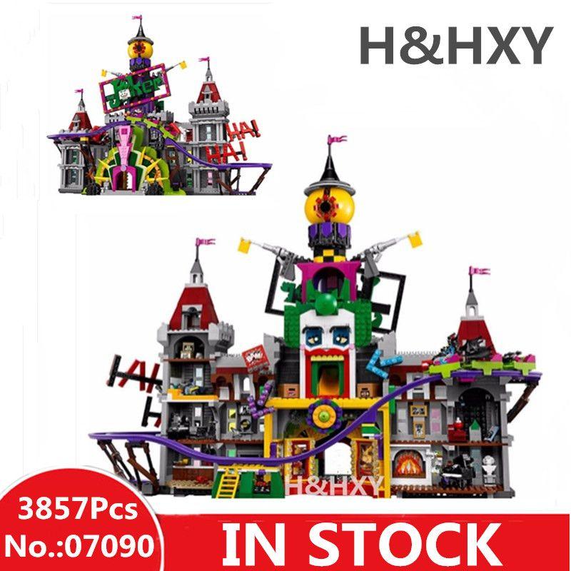 IN STOCK H&HXY Hot 07090 3857Pcs Super Hero Series The Joker`s Manor Set 70922 LEPIN Model Building Blocks Bricks Gifts