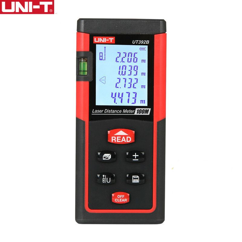 UNI-T UT392B Laser Distance Meters 100 m Range Area Volume Add Subtract Continuous Measurement Rangefinder