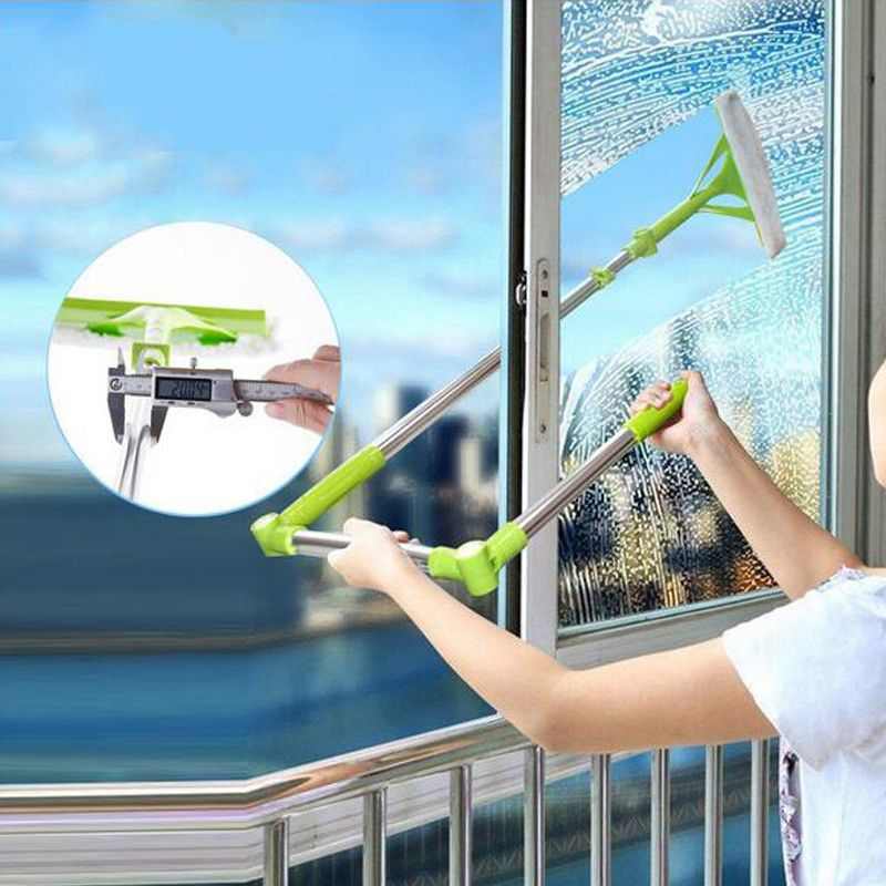 New Telescopic High-rise Cleaning Glass Sponge Mop Multi Cleaner Brush Washing Windows Dust Brush Easy Clean the Windows Hobot