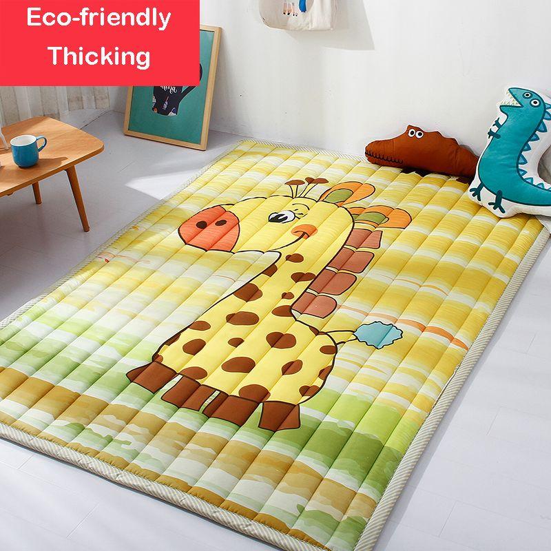 Infant Shining Mats Folding Baby Play Mats 140X195CM Cotton Carpet Children Game Blanket Non-slip Machine Washable Rugs