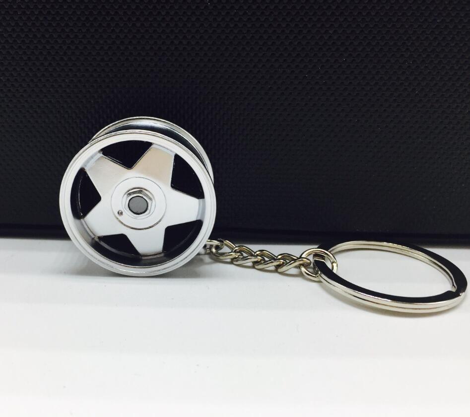 Borbet Wheel Rim Model Keychain Creative Accessories Auto Part Car Keyring Key Chain Ring Keyfob Key Holder