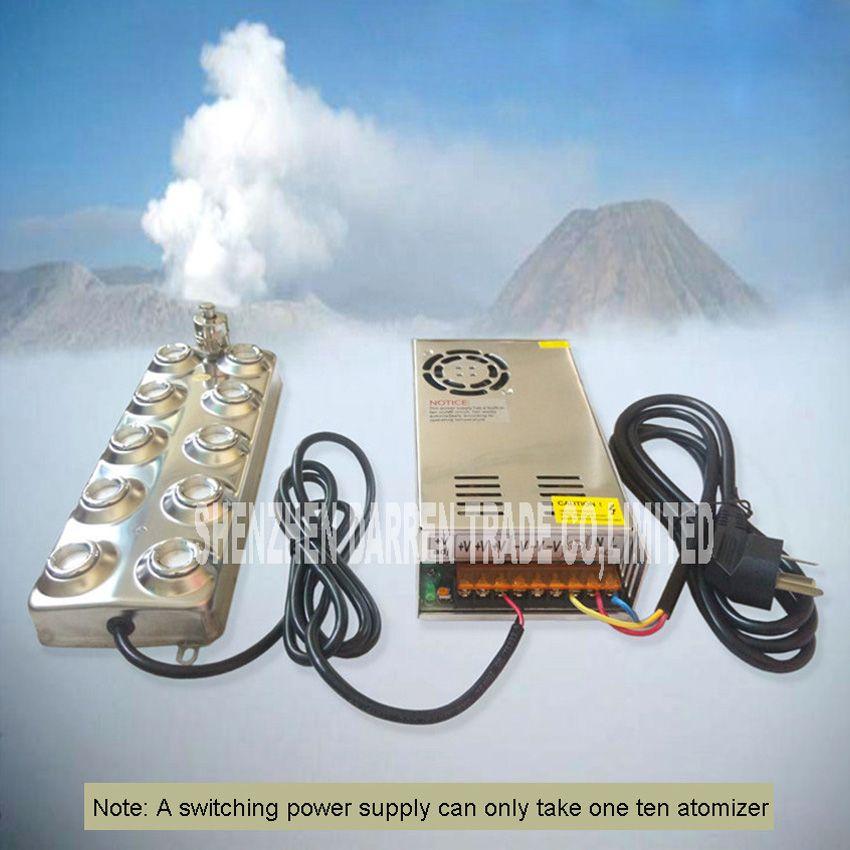 Neue Ankunft Haushalt Und Kommerziellen Ultraschall-nebel-hersteller Fogger 10 Kopf Luftbefeuchter 4,5 kg/std Ultraschall Zerstäuber CL-10D48-2