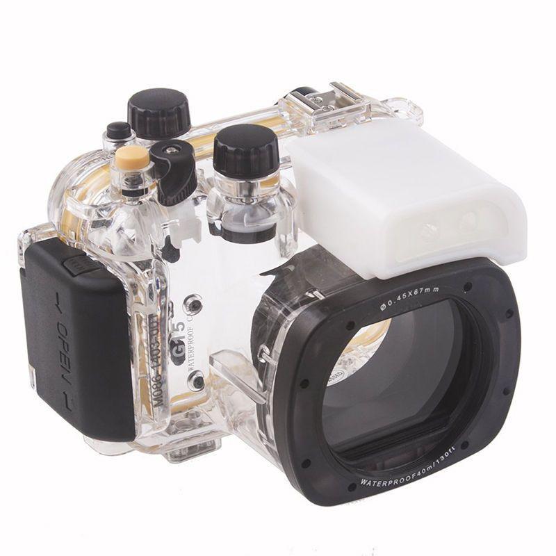 Meikon boîtier étanche pour caméra de plongée sous-marine pour Canon G15 comme WP-DC48