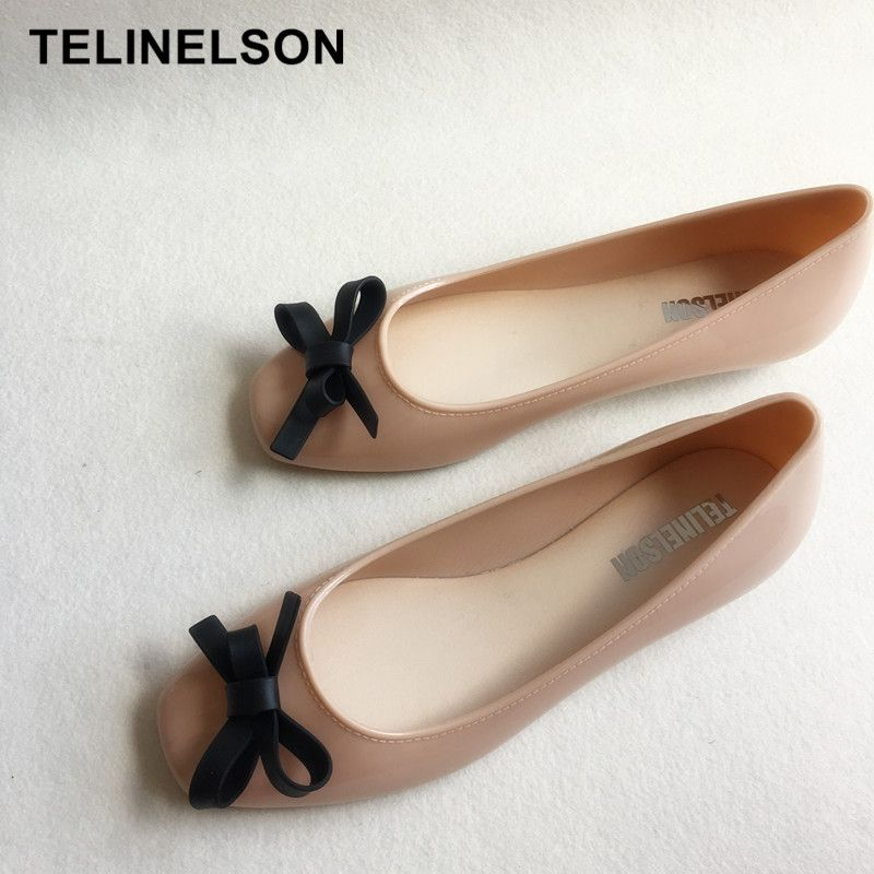 Korean Version of The New Crystal Jelly Shoes Rose Butterfly Knot Transparent Beach Shoes Toe Sandals 10