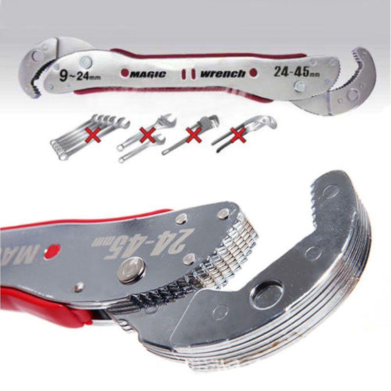 Clé magique réglable multi-fonction outils de clé à molette 9-45mm clé universelle tuyau maison outil à main prise rapide