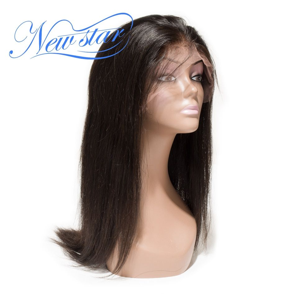 Glueless Full Lace Wig Brazilian Straight Hair 130%Density Virgin Human Hair Pre Plucked New Star Hair Lace Wigs Natural Color