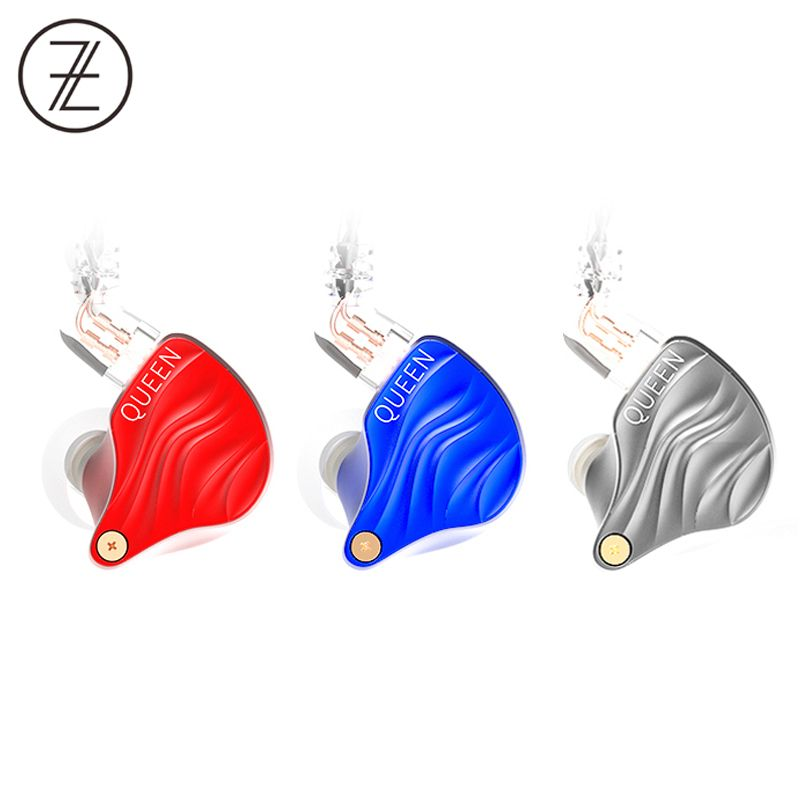 2018 The Fragrant Zither TFZ QUEEN 2Pin Interface Metal HIFI Monitor IEM 3.5mm In Ear Sports Music Dynamic DJ Stage Earphone