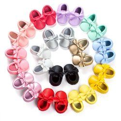 2017 New 22 Colors Tassels Baby Moccasin Newborn Babies Shoes Soft Bottom PU leather Prewalkers Boots