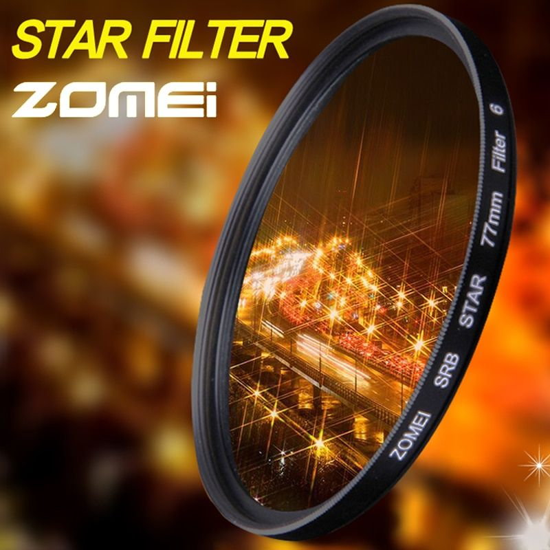 Zomei Star Line Star Filter 4 6 8 Piont Filtro Camera Filters 40.5 49 52 55 58 62 67 72 77 82mm For Canon Nikon Sony DSLR Camera