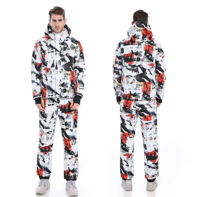 FREE SHIPPING!The new 2018 male ski suits jacket+pants Men's water-proof,breathable thermal cottom-padded snowboard