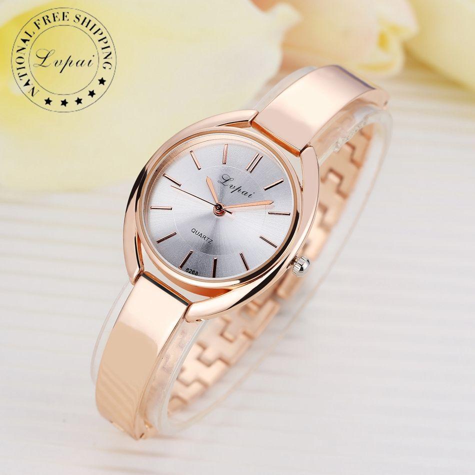 Lvpai Brand Luxury Women Bracelet Watches Fashion Women Dress Wristwatch Ladies Business Quartz Sport Rose Gold Watch LP025