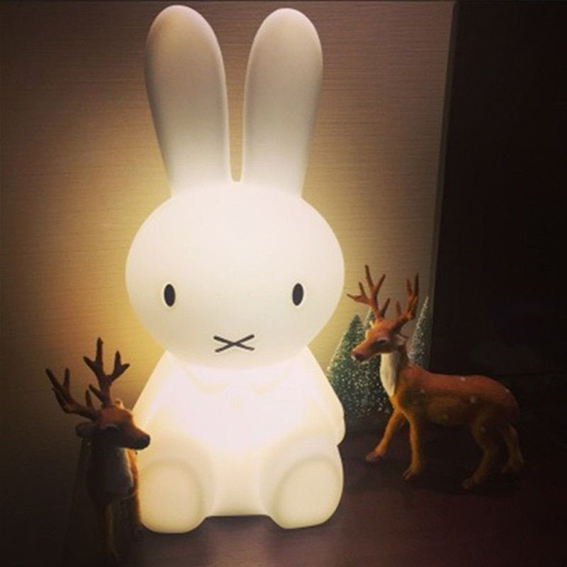 Baby Rabbit Lamp Bed Room Toy Anti-fall Waterproof Environmental Bear Lovely Light Children Christmas gift Electricity Charged