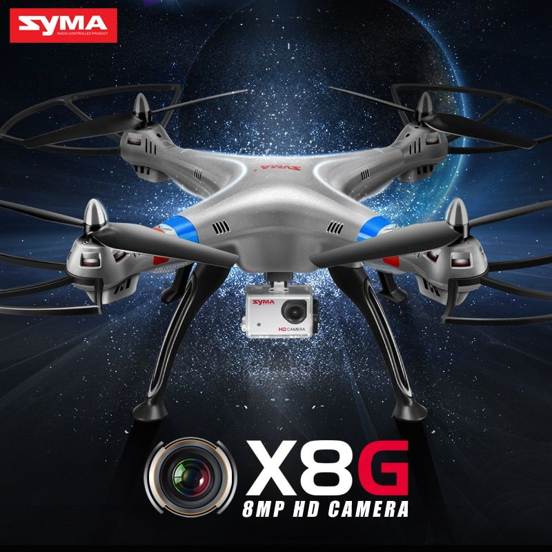 SYMA Official X8G Dron with Camera HD Wide Angle 2.4G 4CH 6 Axis with 8MP 360 Degree Rotating RC Drone RC Gift Quadrocopter