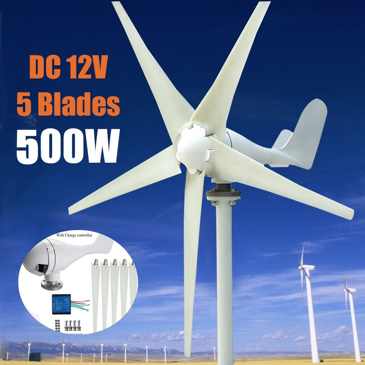 Max 600 watt Wind Turbine Generator DC 12 v/24 v 5 Klinge Netzteil mit Lade Controller für hause Hybrid straßenbeleuchtung verwenden