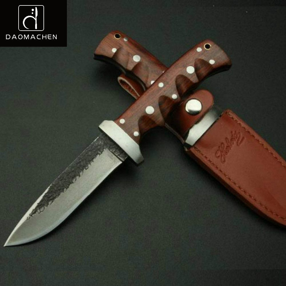Hand Tool HUNTING KNIFE handmade High carbon steel pattern cutter outdoor knife <font><b>survival</b></font> knife sharpknife collection process
