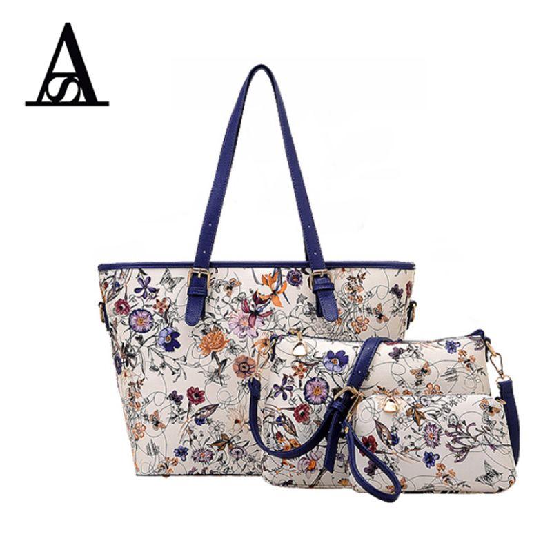AITESEN Blume Verbundtragetaschen Handtaschen Frauen Berühmte Marken Sac ein Haupt Mochila Feminina Bolsa De Couro Kors Tas Michael taschen