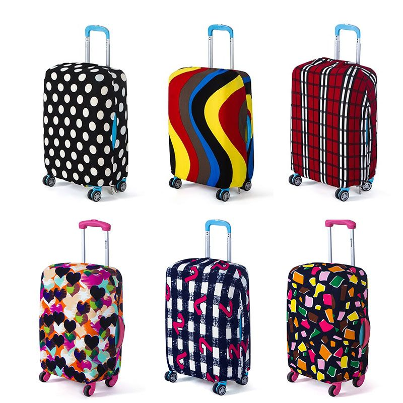 Travel On Road Luggage Cover Protective Suitcase Cover Trolley Case Travel Luggage Dust Cover For 18 To 28 Inch