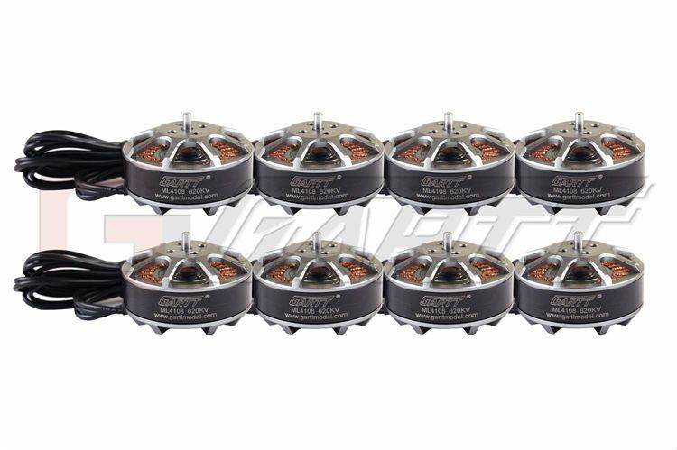 8pcs GARTT Brushless ML 4108 620KV Motor For Multi-rotor Quadcopter Hexacopter RC Drone
