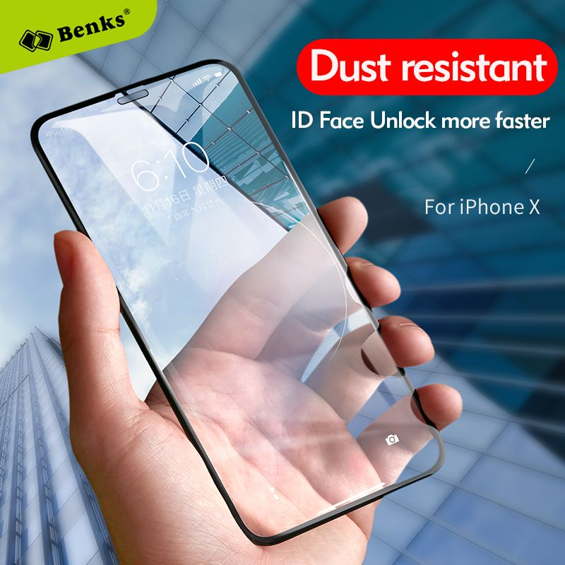 Benks Accessory Glass2 By Corning For iPhone X Tempered Glass Screen Protector Full Cover Protective Anti Dust For iPhoneX Film