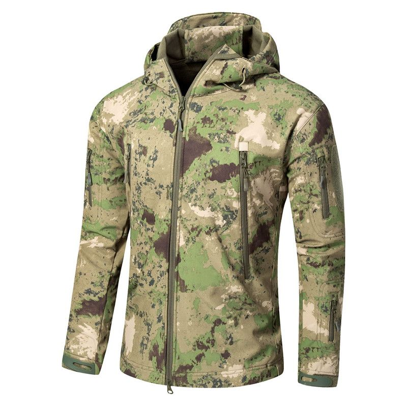 Men Tactical Large Size 5XL Soft Shell Shark Skin Waterproof Windproof Jacket Outdoor Hunting Camping Climbing Coat Army Clothes