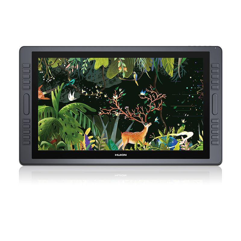 HUION kamvas gt-221 Pro 8192 уровней IPS ЖК-дисплей HD ручка Дисплей Планшеты Мониторы Графика рисунок Мониторы 20 сочетания клавиш 2 touch баров