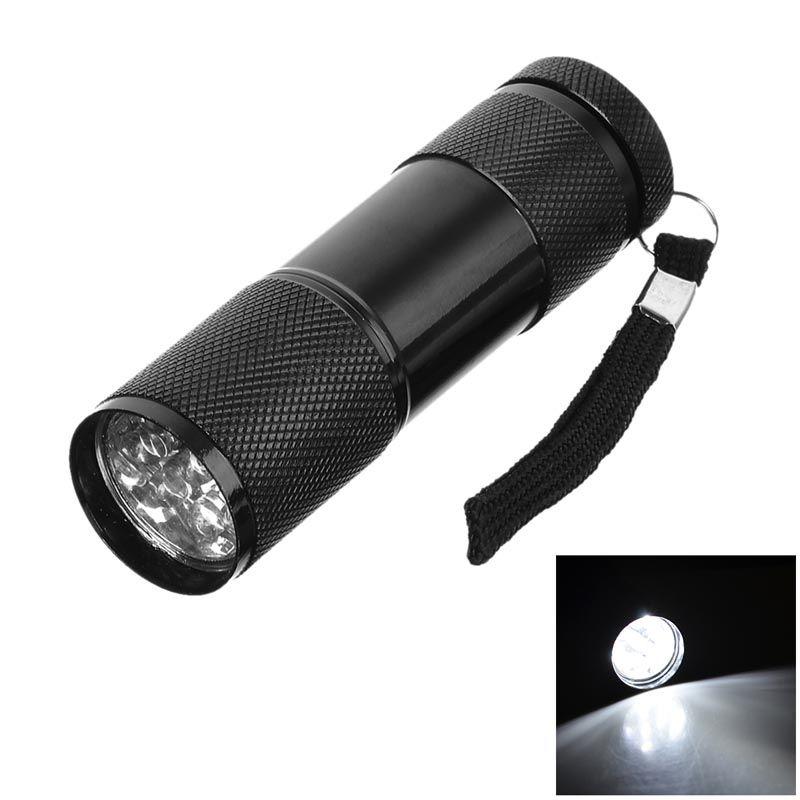 9LED Aluminum Flashlight Waterproof Mini Metal LED Flashlight Promotion Gift Flashlight Torch  (3XAAA battery does not include)