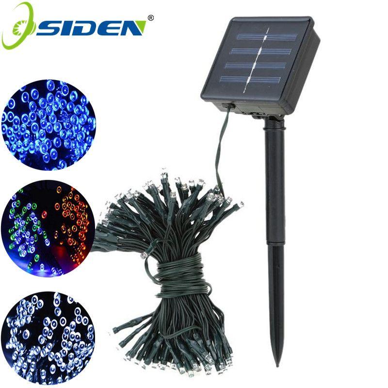 22M 200 LED cordon LED solaire lumière 12M 100LED RGB couleur unique décoration lumière pour noël jardin lumière vacances en plein air fée