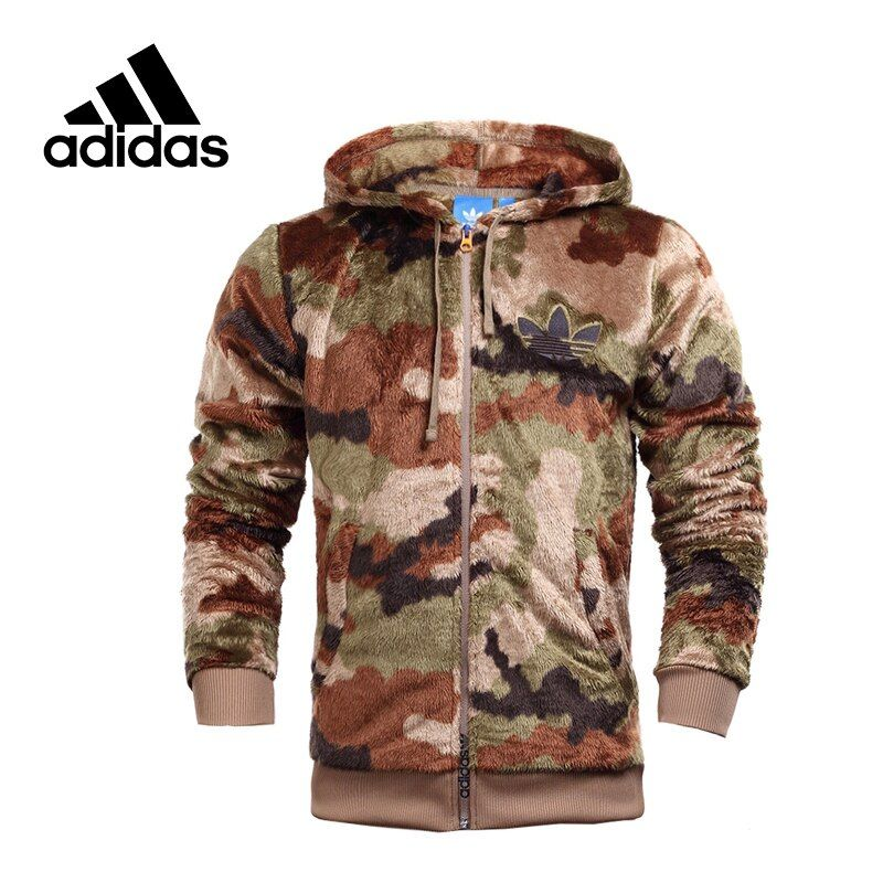 Original New Arrival Official Adidas Originals Men's Warm Jacket Hooded Sportswear