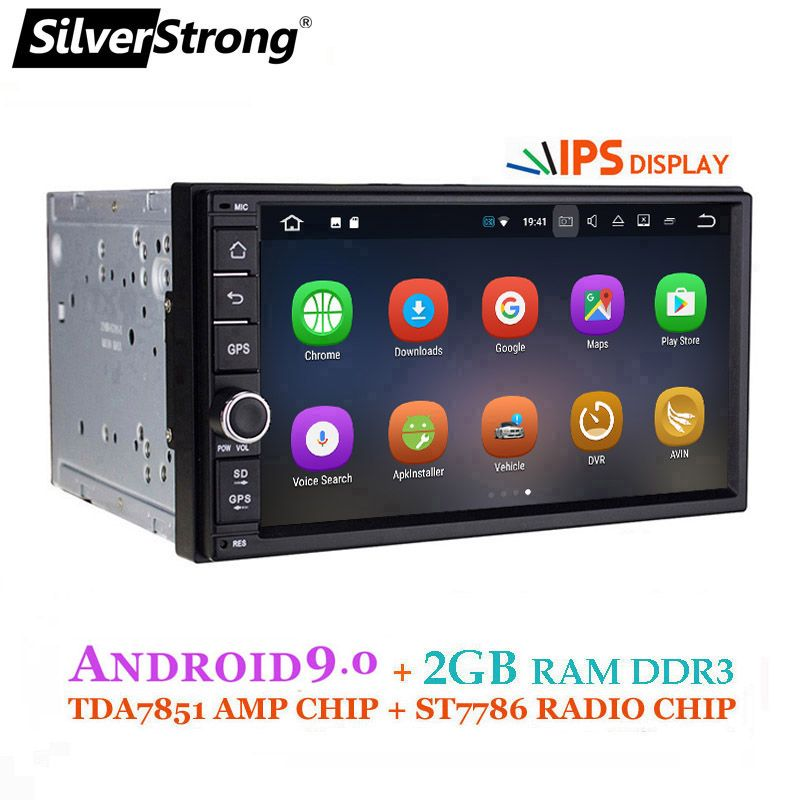 SilverStrong Android9.0 Auto DVD 2Din Universal DSP android IPS panel OctaCore Auto GPS 7 zoll Auto Stereo auto Radio Navi 706