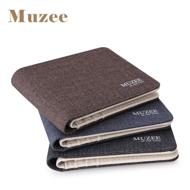 2017 New Retro Man Canvas Wallets Male Purse Fashion Card Holders Small Zipper Wallet New Designed Multi Pockets Purse For Male
