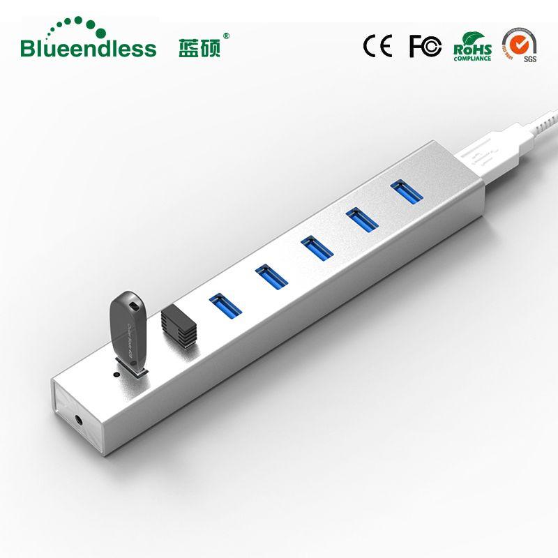 5 GBPS High Speed 7 Ports USB 3.0 HUB Mit On/Off Schalter USB Hub Für Desktop Laptop EU Kostenlos verschiffen # H702U3