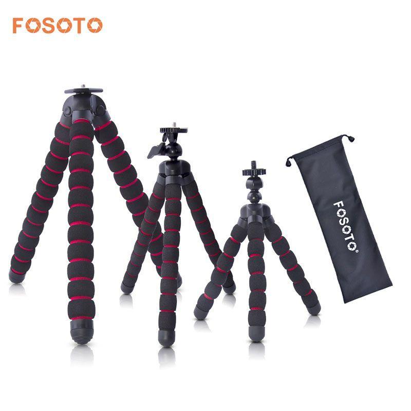 Fosoto pieuvre trépieds support araignée Flexible Mobile Mini trépied Gorillapod pour iPhone GoPro Canon Nikon Sony appareil photo Table bureau