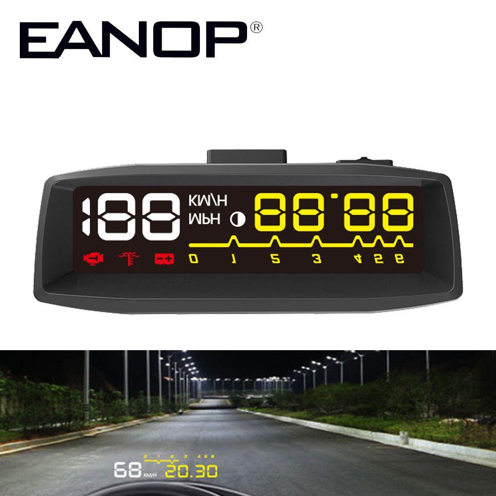 EANOP EN-SMART Car HUD Head up Display OBD II EOBD Auto Digital Car Speedometer For Audi a6 c6 Toyota Ford