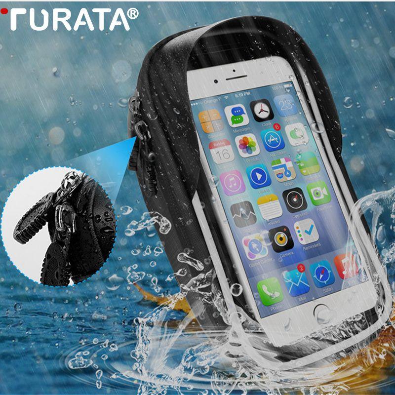 Support de téléphone pour Moto étanche TURATA Support de téléphone pour Moto sac de Support pour iPhone X 8 Plus housse de Support de vélo GPS
